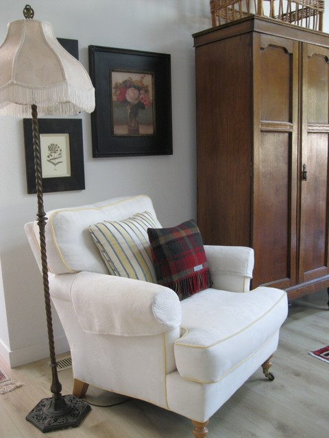 Comfy Armchair And Armoire British Cozy Traditional Living Room San Francisco By Shiree