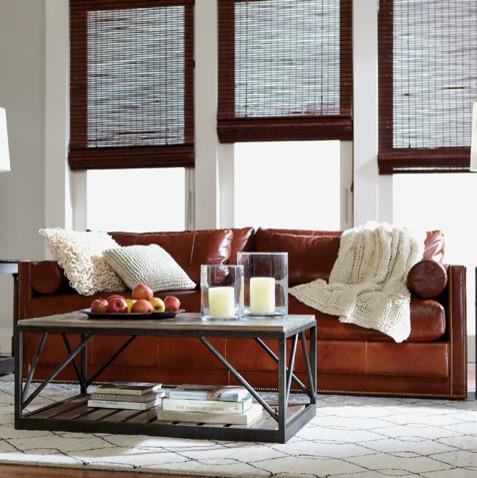 Comfy Industrial Living Room Ethan Allen Jacksonville FL