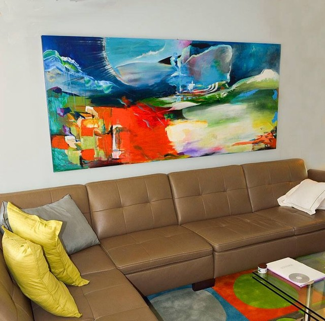 Commission living room wall 9 foot painting for 10 foot living room