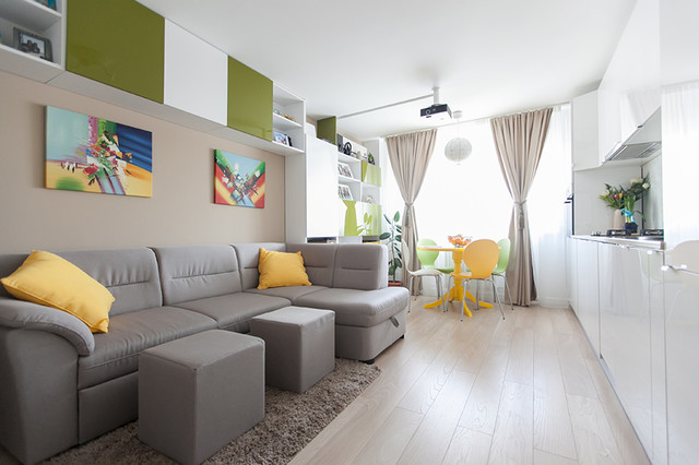 Houzz Tour Stylish Living In Less Than 600 Square Feet