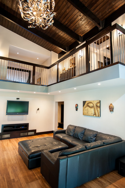 complete home renovation contemporary living room