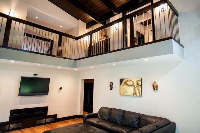 Complete home renovation contemporary living room for Interior design edmonton