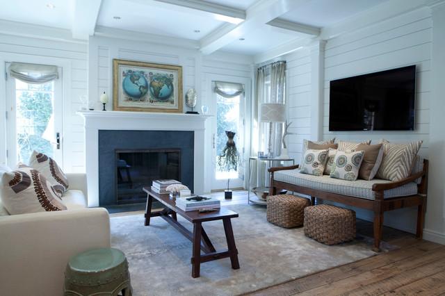 Compo Beach House Westport Ct Beach Style Living