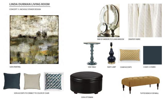 Concept inspiration boards transitional living room for Inspiration concept interior design llc