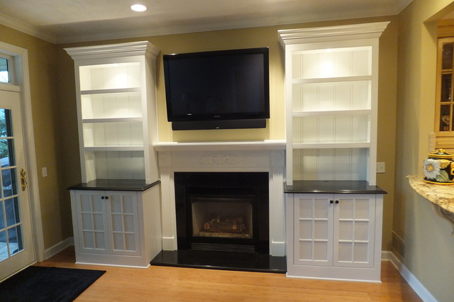 Concord Custom Cabinetry And Fireplacetraditional Living Room Cleveland