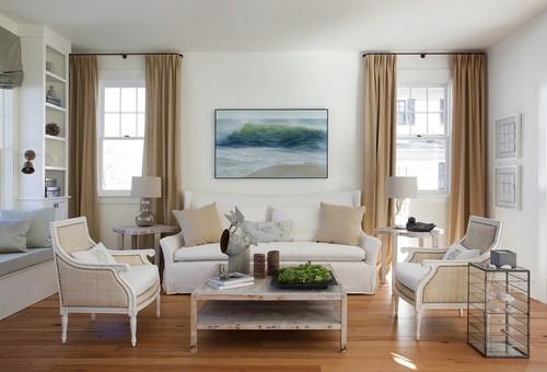 客廳窗簾設計|白色基底凸顯暖色調窗簾
