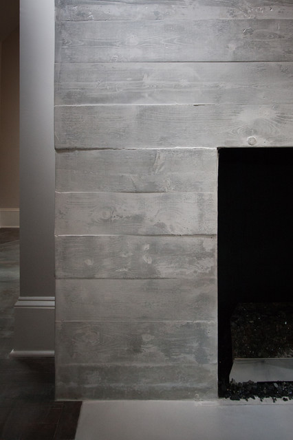Cement Board Chimney : Concrete board formed fireplace surround modern living