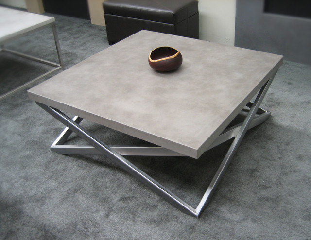 Concrete Custom Contemporary Coffee Table Contemporary Living Room New York By Trueform