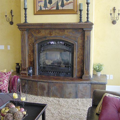 Concrete Fireplaces contemporary