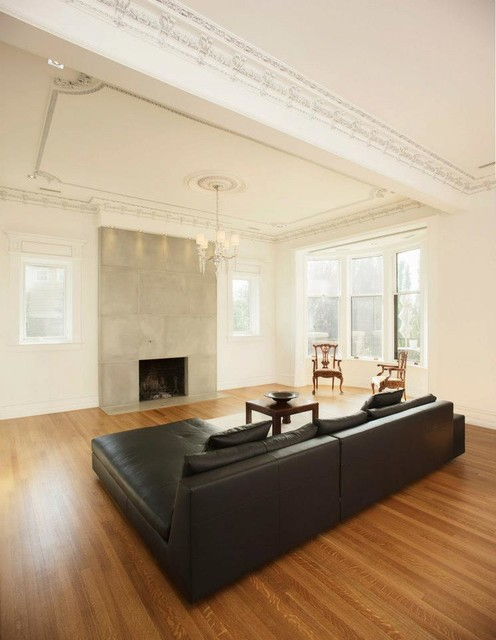 Concrete Fireplaces traditional-living-room