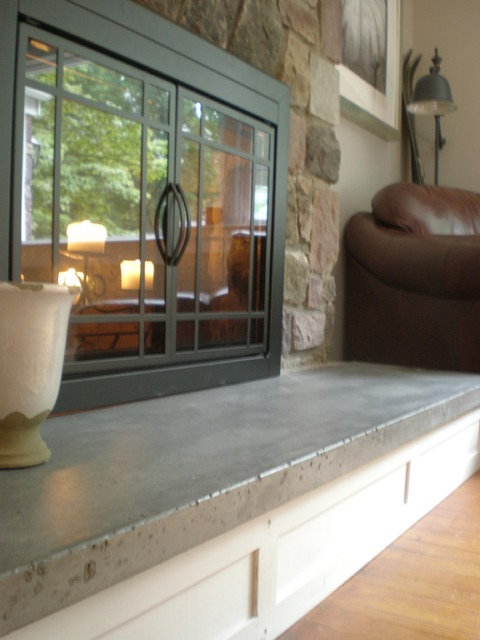 Concrete Hearth And Custom Mantel Traditional New York By Northeast Furniture Studio