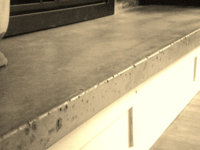 Concrete Hearth and Custom Mantel - Traditional - new york ...