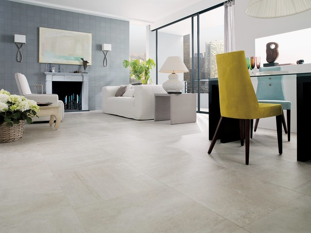 Concrete Look Tiles - Rodano Caliza - Industrial - Salón - Perth ...