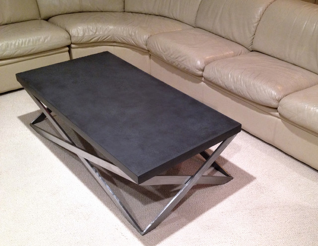 Concrete Mobius Coffee Table Contemporary Living Room New
