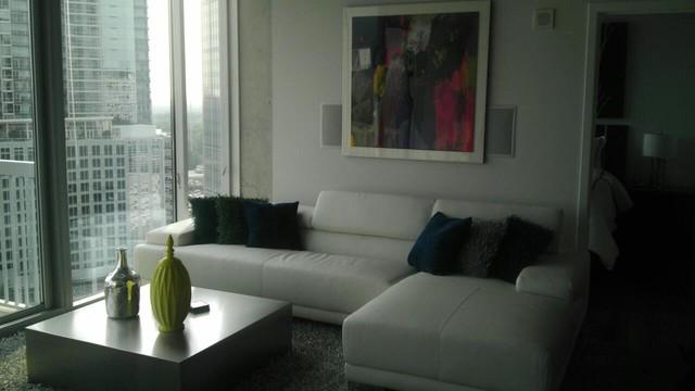 Condo in Buckhead, GA contemporary-living-room