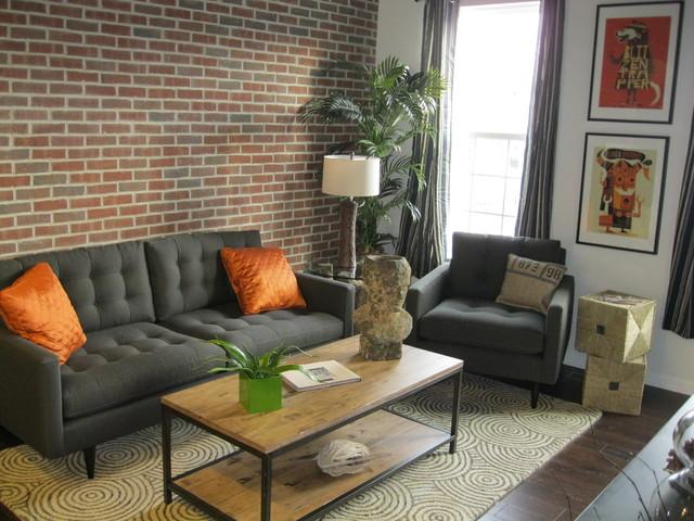 Condo Living Area Modern Living Room Cincinnati By Nest Designs Llc