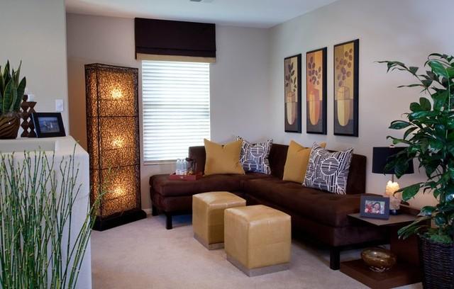 Condo Living traditional-living-room