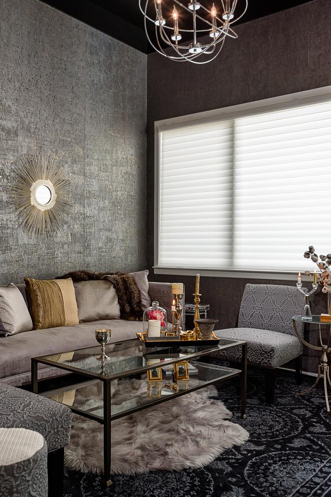 condo living room design manhattan style  contemporary