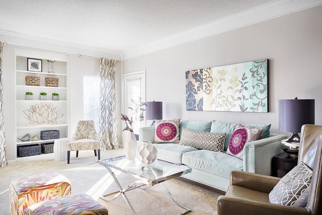 Condo Models contemporary-living-room
