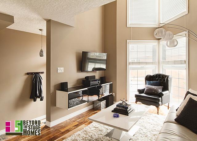 Condo Redesign Project contemporary-living-room