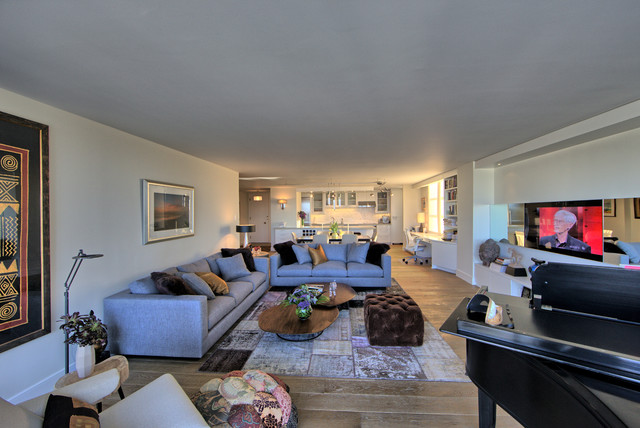 Condo refurbishing in Pacific Heights contemporary-living-room