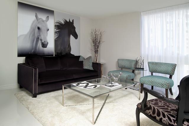 Condo reno project contemporary-living-room