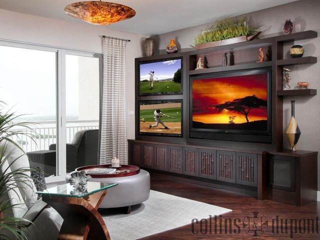 Condo Renovation in Bonita Bay contemporary-living-room