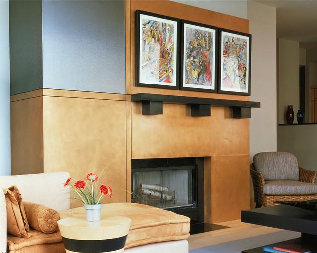 Condominium Comfort & Style contemporary-living-room