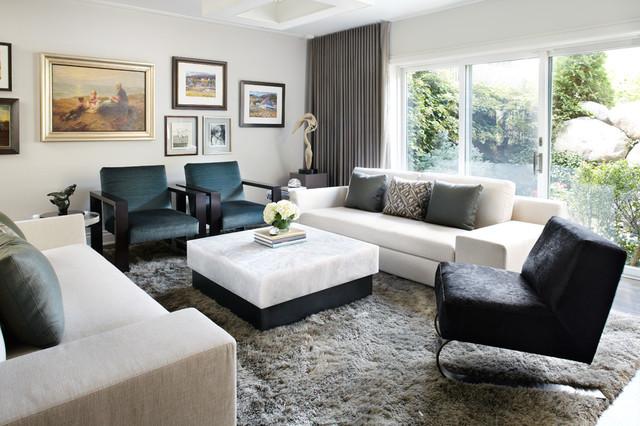 Condominium Renovation contemporary-living-room