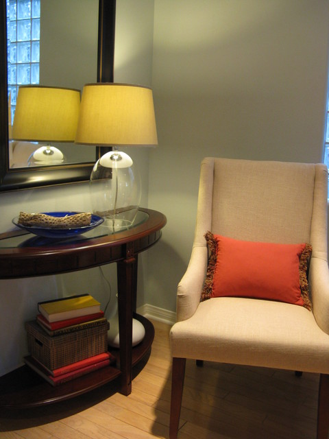Console Table With Chair - Traditional - Living Room - Los Angeles