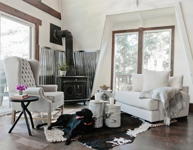 Contempo Cabin Rustic Living Room Salt Lake City