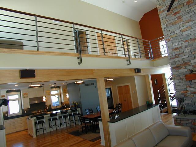 Contempoary Stair Railing Contemporary Living Room