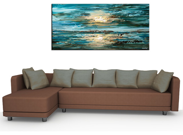 Elegant Contemporary Abstract PaintingsModern Living Room, San Francisco. U0027