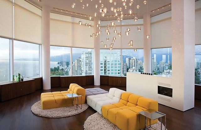 Contemporary and modern lighting contemporary living for Modern living room lighting