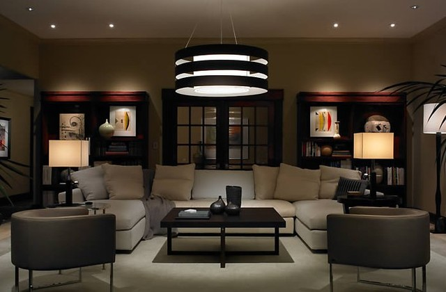 Contemporary and modern lighting modern living room chicago by northwest lighting and for Living room wall light fixtures