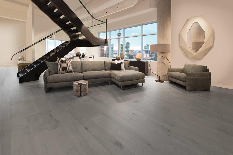 Contemporary Sleek Gray Hardwood, Contemporary Wood Flooring