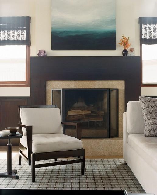Contemporary Beach House traditional-living-room