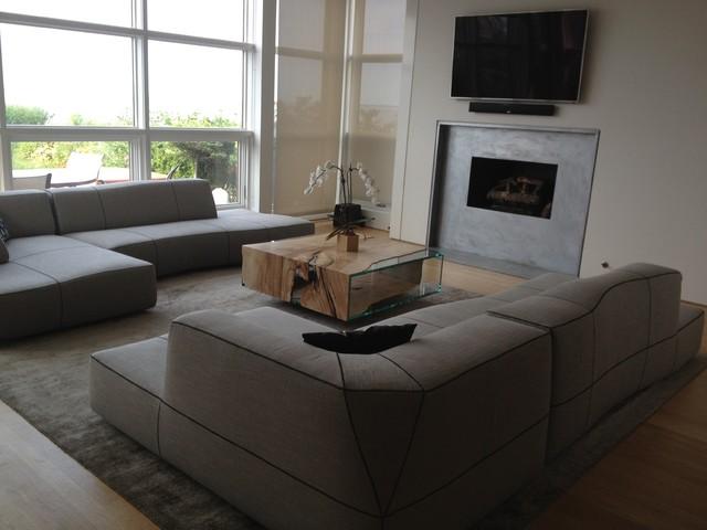 Contemporary Beach House beach-style-living-room