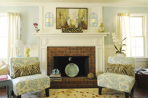 Would you paint the bricks around your fireplace? | The Small and ...