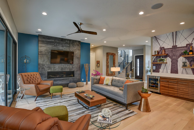 Contemporary Bloomington In Contemporary Living Room Indianapolis By Rubicon Custom Homes