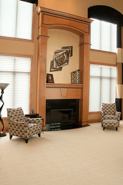 Contemporary Cabinetry traditional-living-room