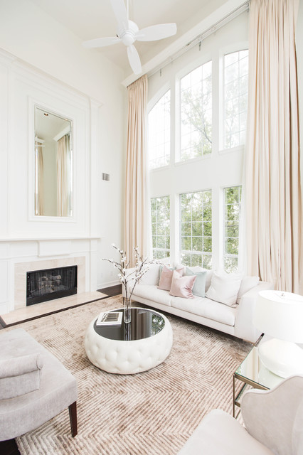 Contemporary Chic Living Room Transitional Living Room Dallas By Urbanology Designs