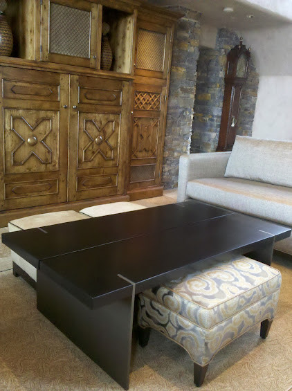 Contemporary Coffee Table and Southwestern Entertainment unit contemporary-living-room