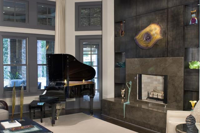 Contemporary comfort contemporary living room for Comfort room interior designs