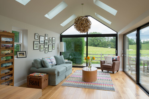 Our new sun room for Living room extension ideas