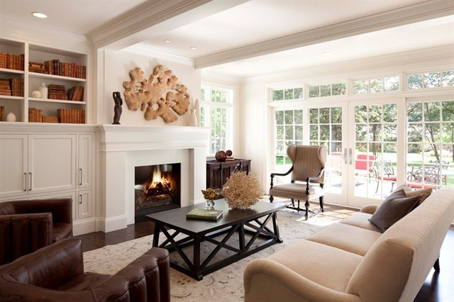 Contemporary Country Living Room Traditional