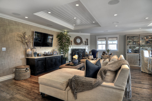 Contemporary Craftsman Contemporary Living Room