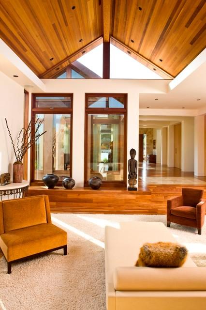 Contemporary Custom Home contemporary-living-room