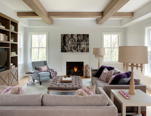 Contemporary Farmhouse Transitional Living Room Boston By Marcus Gleysteen Architects