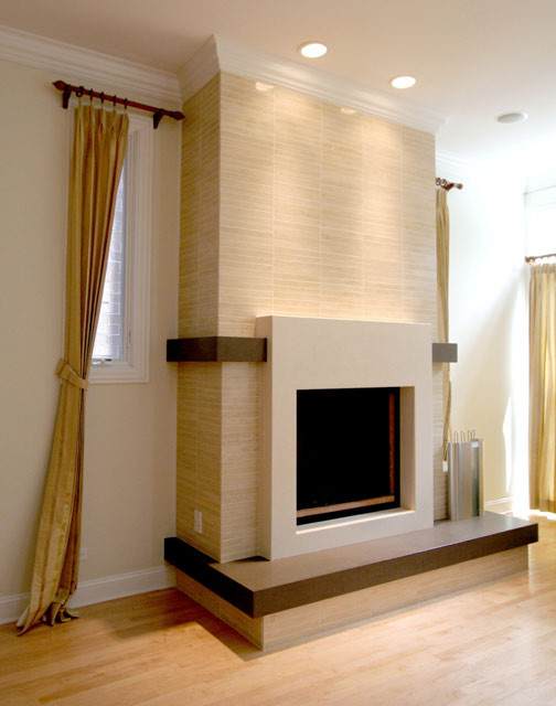 Contemporary fireplace - Living room contemporary fireplace design ...